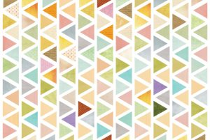 דגם: משולשים צבעוניים