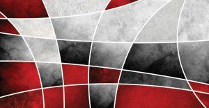 שטיח פיויסי דגם אדום אפור
